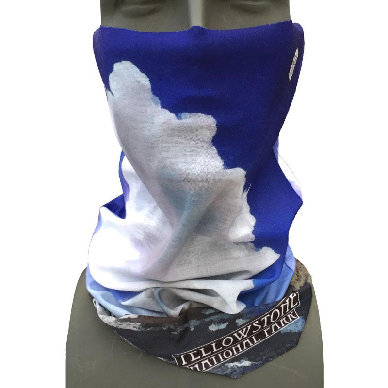 0a3a6608 Yellowstone National Park bandana facemask Old Faithful design