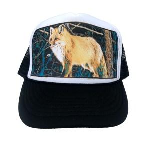 Mountain Fox Trucker hat by Rob Kingwill, AVALON7 Jackson Hole