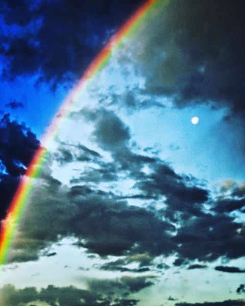 The gateways are everywhere. Rainbows lit up the sky in #jacksonhole this morning. #avalon7 #inspiredstate #seekbeauty www.a-7.co