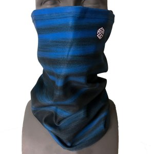 Warm Blue Faded Bonded Fleece Facesheld snowboard facemaskWarm Blue Faded Bonded Fleece Facesheld snowboard facemask
