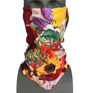 Avalon7 Flower Power snowboarding facemask by Richiebeats