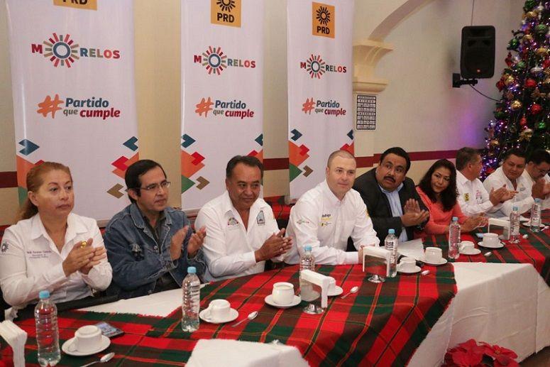 El presidente del PRD Morelos, Rodrigo Gayosso Cepeda