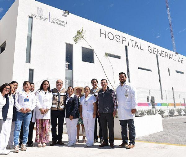"""acudieron al hospital general de Cuernavaca """"Dr. José G. Parres"""", donde conocieron el avance de los trabajos que se realizan para su rehabilitación tras el sismo del pasado 19 de septiembre; se prevé que sea en un mes cuando quede habilitado al cien por ciento"""