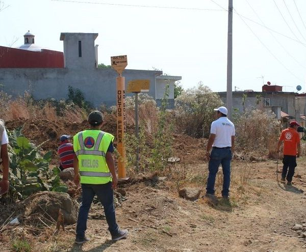 Durante este recorrido elementos de ambas corporaciones realizaron una inspección pie tierra por los poblados de Chamilpa, Ocotepec y la colonia Paraíso Montessori en busca de fugas de hidrocarburo