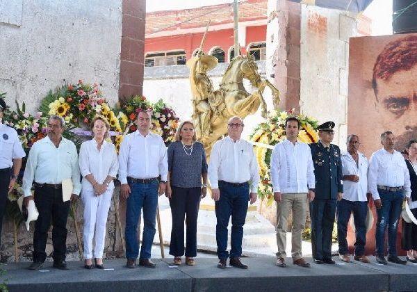 El gobernador Graco Ramírez anunció la creación de la Comisión para la Conmemoración del Centenario de la Muerte de Emiliano Zapata, cuya responsabilidad será evaluar el cumplimiento de las metas e ideales por las que luchó y murió del Jefe de la Revolución del Sur