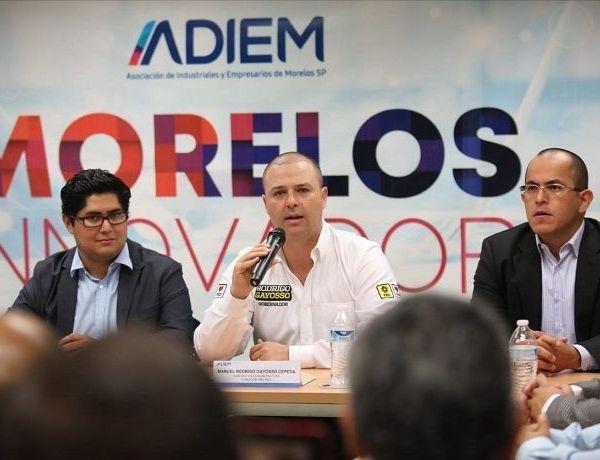 """Afirmó estar convencido de que """"Morelos merece más, más transparencia, más rendición de cuentas, más seguridad, más empleos y mejor pagados para sacar adelante a las familias morelenses"""""""