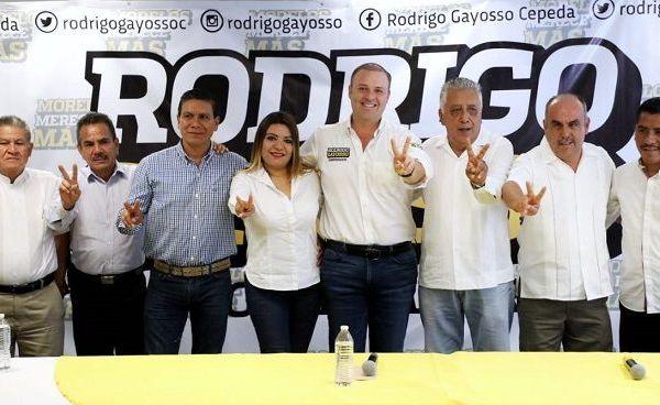 Candidatos a presidentes municipales de Movimiento Ciudadano, Nueva Alianza y del Verde Ecologista de México, se sumaron al proyecto a la gubernatura del candidato por el PRD y PSD, Rodrigo Gayosso Cepeda