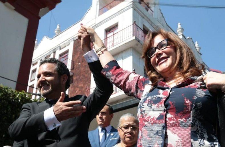 """Yeidckol Polevnsky dejó en claro que """"El Lobito"""" cuenta con el respaldo del presidente Andrés Manuel López Obrador, porque Toño Villalobos fue la mejor elección y será el mejor alcalde que haya tenido la ciudad"""