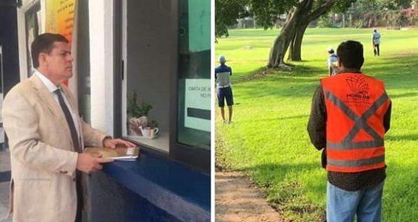 """En efecto, tanto los vídeos y las fotos ahí están, los chalecos aparecen, como también la denuncia que presentó ayer el Fidel Giménez Valdés contra quien resulte responsable por los delitos de: """"Usurpación de funciones públicas y uso indebido de condecoraciones públicas, y ultraje y uso indebido de insignias públicas…"""" y demás presuntos delitos a perseguir"""