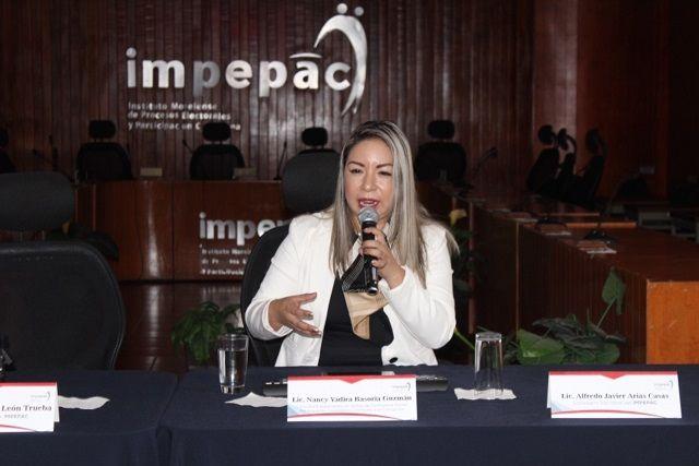 Lo anterior en el marco de la conferencia dictada por la ponente Nancy Yadira Basoria Guzmán; además la consejera presidenta del órgano electoral, recordó que han pasado más de 20 años de discusión de la ley en materia, por lo que ahora corresponde a la ciudadanía hacer uso de todos los mecanismos de participación ciudadana
