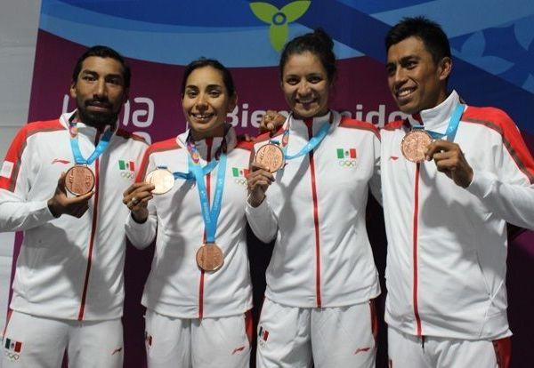 El representativo nacional terminó con un tiempo de una hora 20 minutos y 57 segundos para subir al podio de honor, tras el recorrido de 0.3 km de natación, 6.6 km de bicicleta y 1.5 km de carrera a pie, en la prueba que también hará su debut en los Juegos Olímpicos Tokio 2020