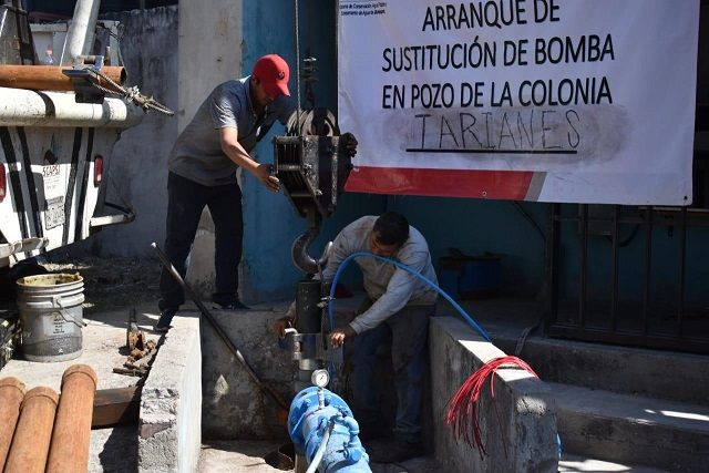 Miguel Eduardo Barrios Lozano, director general del SCAPSJ, informó que a la fecha son 14 las fuentes de abastecimiento en las cuales se ha realizado la modernización del equipo que permite extraer agua y distribuirla de manera suficiente entre los usuarios para la satisfacción de sus necesidades primarias