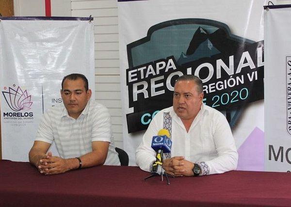 Osiris Pasos Herrera, director del Instituto del Deporte del Estado de Morelos (INDEM), y el jefe del departamento del Deporte de la Universidad Autónoma del Estado de Morelos (UAEM), L.E.F. Álvaro Reyna Reyes, realizaron el anuncio oficial del cambio de fecha de esta fase eliminatoria