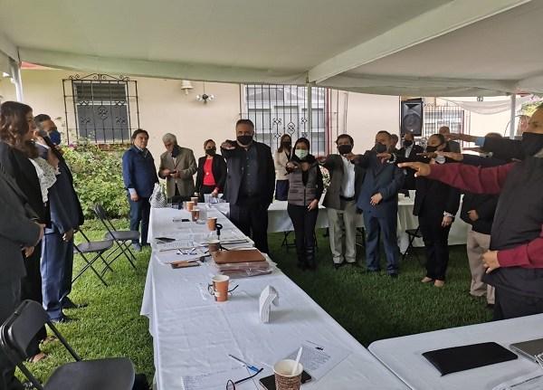 En el acto, se presentó el informe de labores del ejercicio 2018-2020 y se hizo un reconocimiento a los logros alcanzados durante la gestión de Ricardo Popoca González y en virtud de ello se determinó dar continuidad a los trabajos emprendidos, razón por la cual se votó por su reelección por el periodo 2020-2021