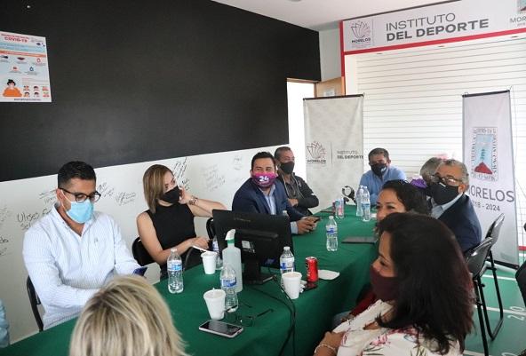 Daniela Torres, Alan Pérez y Paulina Alanís, en modalidad deportista; Alan Toledo, entrenador; y Fernando Melgoza, fomento, protección o impulso a la práctica del deporte