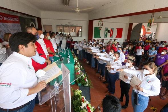 dijo que el presidente nacional, Alejandro Moreno respaldará como nunca las determinaciones de la dirigencia en Morelos porque las decisiones tendrán que salir de las bases del partido