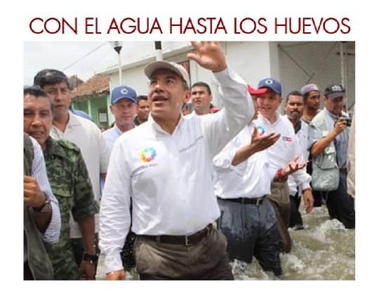 """""""Se tomó la decisión"""", volvió a hablar con la verdad, responsabilizándose, de desviar el curso del agua captada en las presas de almacenamiento de agua en Tabasco, evitando se inundara Villahermosa, lo que habría sido una desgracia mayor."""
