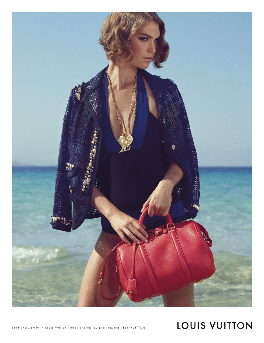 Louis Vuitton Cruise 2012 Ad Campaign Arizona Muse Red SC Sofia Coppola Bag PM