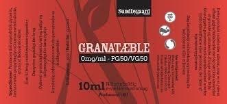 10ml Sundbygaard Premium E-Væske 50% PG