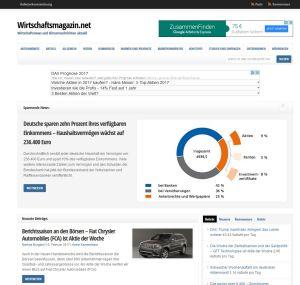 Screenshot Startseite Wirtschaftsmagazin.net