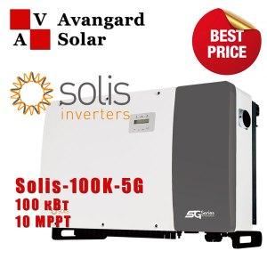 Сетевой инвертор Solis-100K-5G (100 кВт, 3 фазы /10 трекеров)
