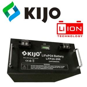 Литиевый аккумулятор Kijo LiFePO4 24В 100-200Ач (2.4-4.8 кВт/ч)
