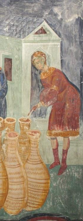 Svadba u Kani, detalj, Kalenić, 15. vek, foto © dokumentacija Artis centar, Beograd