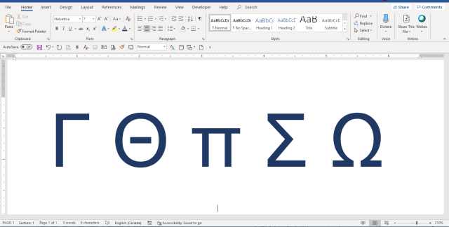 How to Insert Greek Letters or Symbols in Word (23 Ways)  Avantix