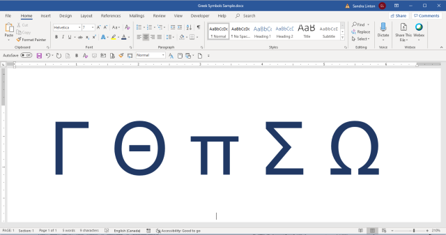 How to Insert Greek Letters or Symbols in Word (22 Ways)  Avantix