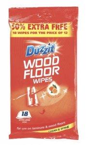 Duzzit Lingettes pour sols en bois 18Lot (425721)