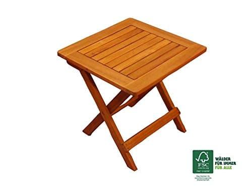 SAM® Table de jardin en bois d\'acacia, certifié FSC® 100 %, table d\'
