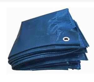 Bâche en tissu 250g/m² Bleu avec œillets en aluminium 8m x 10m