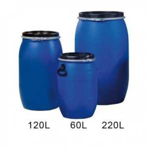 Réservoir 220L – Fut en plastique bleu PEHD