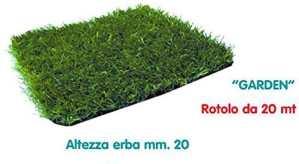 Rouleau mt.2x 20gazon synthétique mm.20moquette pelouse Tapis Vert semer