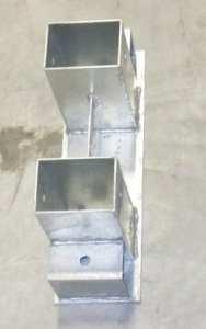 Support métallique pour range-bûches livré sans cales en bois