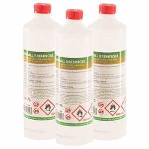 15 x 1 L bioéthanol en gel – FRAIS DE PORT OFFERT – en bouteilles d'1L