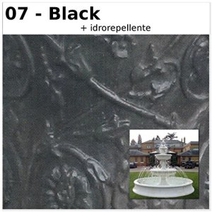 Fontaine de jardin Volterra cM340x 340x 275H dans les différents couleurs CM340X340X275H noir