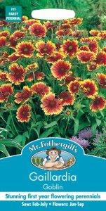 Mr. Fothergill's Seeds 13637 Lot de 300 graines de gaillarde Goblin
