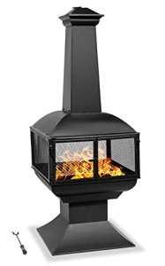 Centurion Supports – Cheminée moderne de jardin et terrasse – Chauffage – Coin feu et barbecue -Fireology Taurus