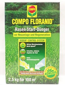 Compo Floranid Engrais de démarrage d'engrais pour gazon 2,5kg pour 100m²