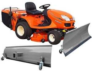 Pelle à neige Universelle avec roues 175x 40cm gris einachser gazon tracteur, Quad, ATV