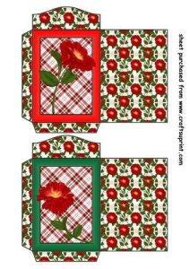 Feuille A4 pour confection de carte de vœux – 2 Wild red rose seed packets 1 par Sharon Poore