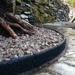 FlexiBorder Bordure de Jardin, Pelouse et Gazon en Caoutchouc Écologique et Étanche, Sans Risque pour les Tondeuses – Pack de 6 x 1 Mètre de long (Couleur Noir)