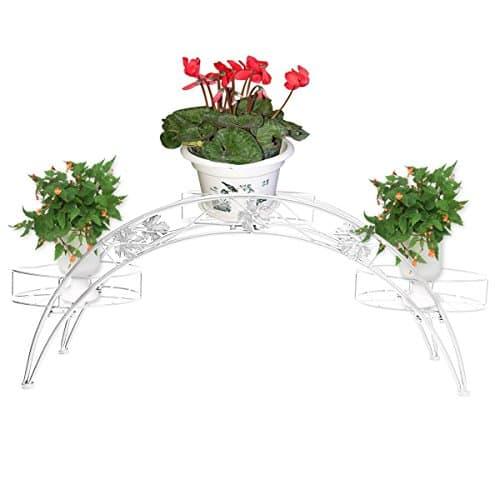 tag re de pots de fleurs plantes arche en m tal fer forge. Black Bedroom Furniture Sets. Home Design Ideas