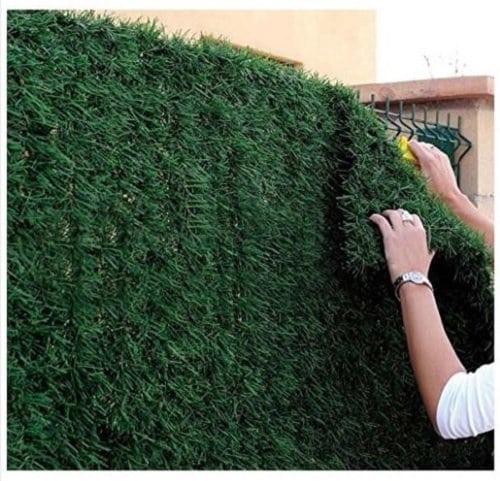 OEM Haie de jardin artificielle, en rouleau de 1x3m (3m²) – Idéale pour balcon ou clôture – Aspect sapin – Ultra couvrant
