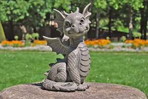 Statue de dragon de jardin assis