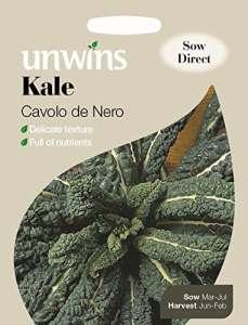 Unwins générations des paquets–Chou frisé Cavolo de Nero–200graines