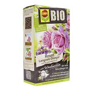 Compo Bio Engrais pour Roses de Longue Durée avec Laine de Mouton, Unique, purement Engrais Organique pour Roses et Plantes à Fleurs 2 kg Marron