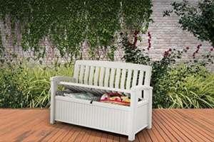 Keter/Chalet et Jardin- Patio Bench Coffre, Blanc, 227 L