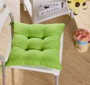 Tia-Ve – Coussin de chaise, 40x40x8cm – Violet foncé verde vert